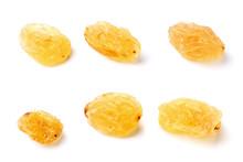 Six Raisins On White