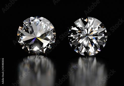 Realistic Diamond in top vi...