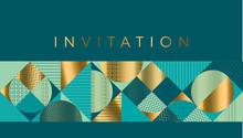 Geometric Luxury Bright Motif For Header, Card, Invitation