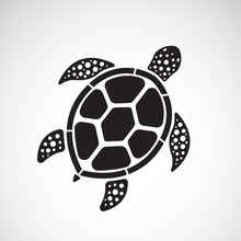 Vector Of Turtle Design On A W...