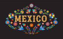 Mexico Background, Banner With...