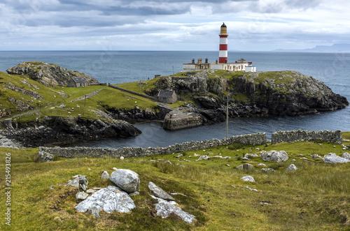 Spoed Foto op Canvas Vuurtoren Eilean Glas Lighthouse on Scalpay, Scotland, United Kingdom, UK.