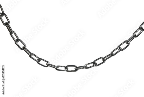 Fotografía  metal chain isolated on white background, clipping path
