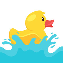 Yellow Rubber Duck Splashing W...