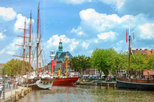 Tablou Canvas Emden im wunderschönen Ostfriesland