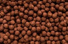 Chocolate Breakfast Cereal Balls Background