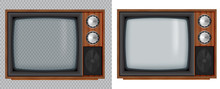 Old Wooden Television.Vector R...