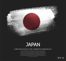 Japan Flag Made Of Glitter Spa...