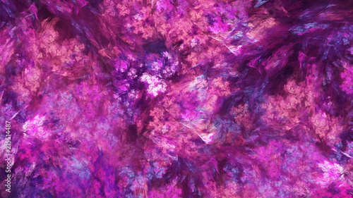 Spoed Fotobehang Roze Abstract painted texture. Chaotic purple and blue strokes. Fractal background. Fantasy digital art. 3D rendering.