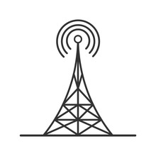 Radio Tower Linear Icon