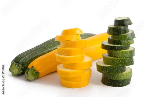 Gelbe und grüne Zucchini