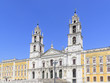 National palace of Mafra. Neighborhood of Lisbon, Portugal. Franciscan monastery. Baroque architecture style. Concept of travel and tourism.