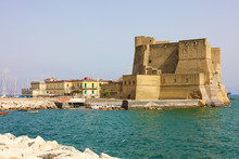 Castel Dell'Ovo (Egg Castle) A Medieval Fortress In The Bay Of Naples, Italy.