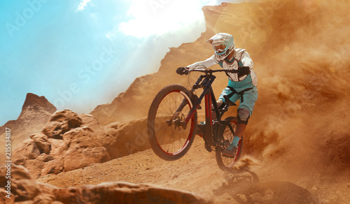 Cyclist riding a bicycle. D...