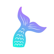 Mermaid Tail Vector Graphic Il...