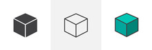 3D Cube Icon. Line, Solid And ...