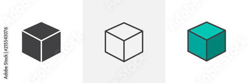 Photographie 3D Cube icon
