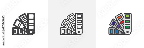 Pantone color icon. Line, solid and filled outline colorful version, outline and filled vector sign. Symbol, logo illustration. Different style icons set. Pixel perfect vector graphics
