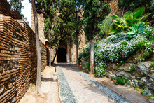 Courtyard Of Alcazaba Castle I...