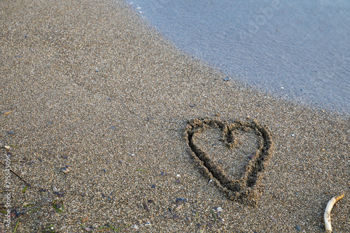 Photo Hearts on Sand