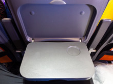 Airline Seat Tray Open And Ready For Food While Waiting For Stewardess To Serve Beverage Food Drinks . Airplane Table Tray