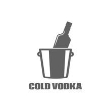 Vodka Bottle Logo. Cold Vodka ...