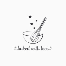 Baking With Wire Whisk Logo On...