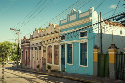 Colorful street in Santa Teresa district of Rio de Janeiro, Brazil
