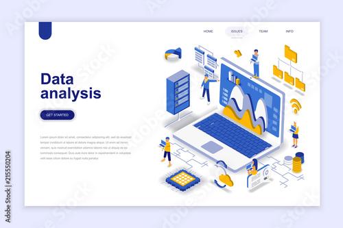 Photo  Data analysis modern flat design isometric concept