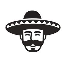 Mexican Man In Sombrero
