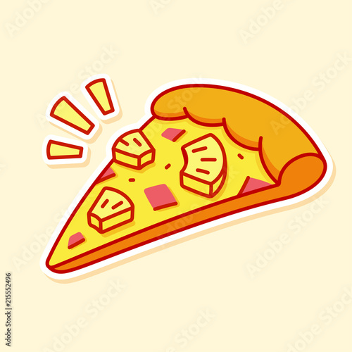 Pineapple pizza slice