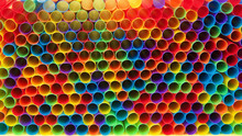 Hundreds Of Colorful Plastic S...