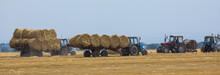 Harvesting In The Field,Hay Ba...