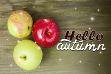 Hello Autumn Letters  Card Foto