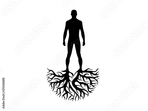 Person roots silhouette heritage illustration Fotobehang