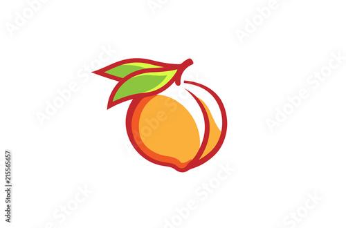 Peach Orange Logo Design Illustration Fototapeta
