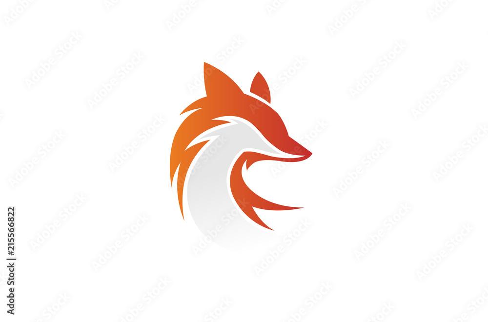 Fototapety, obrazy: Creative Fox Head Logo Design Illustration