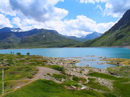Fotografia, Obraz  lac du mont cenis dans les alpes