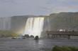 Cataratas do Iguaçu no Brasil. queda d'água de cachoeira.
