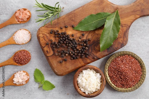 Foto op Plexiglas Aromatische Salt and spices.