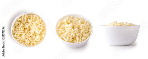 Obraz na płótnie grated mozzarella cheese