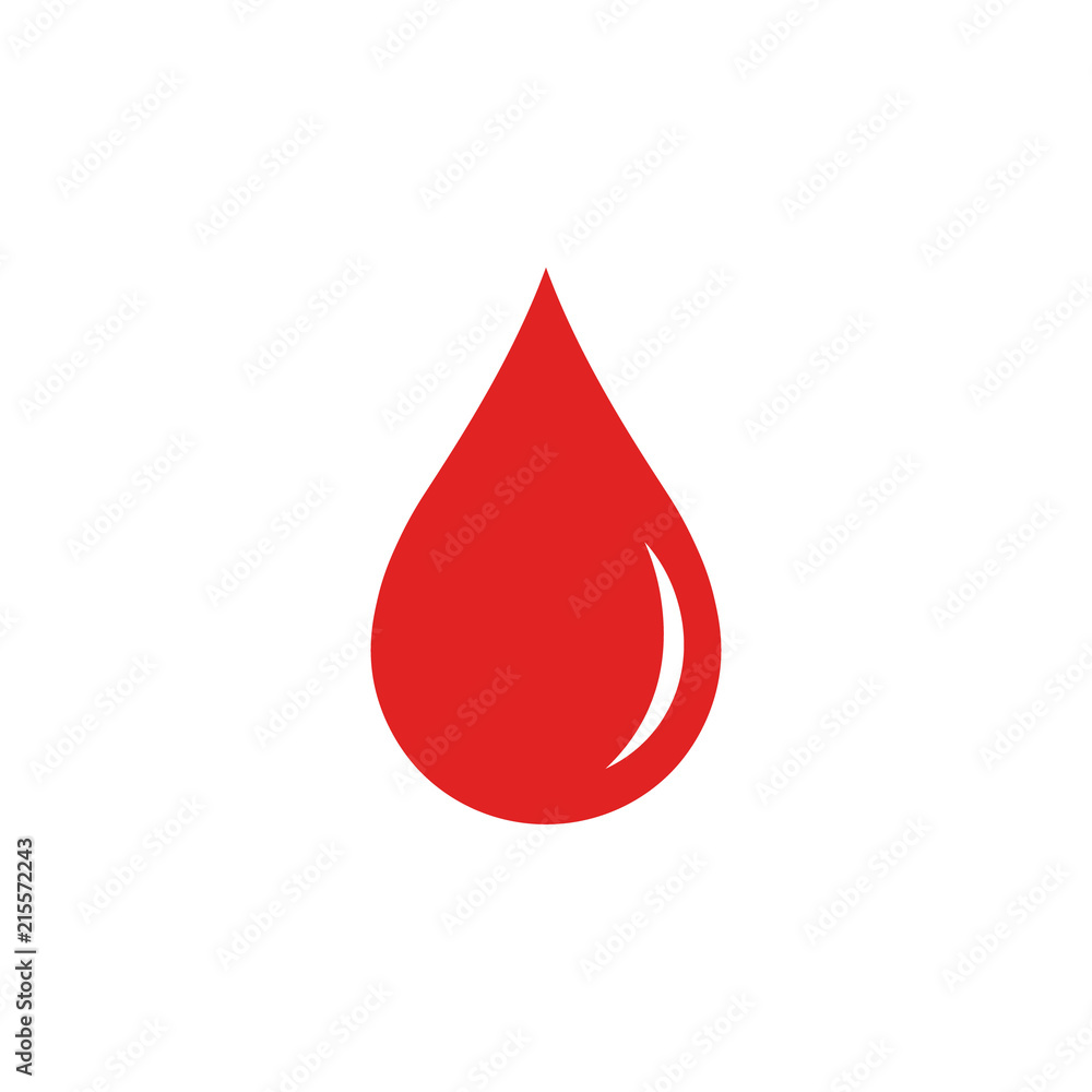 Fototapety, obrazy: Blood drop. Vector. Isolated.