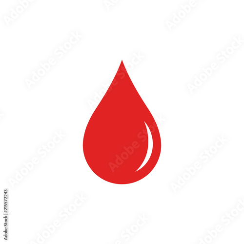 Fotografie, Tablou  Blood drop. Vector. Isolated.