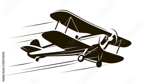 Vintage flying aircraft Canvas Print
