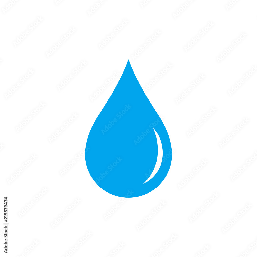 Fototapety, obrazy: Water drop. Icon. Vector.