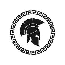 Spartan Helmet. Vector. Isolat...
