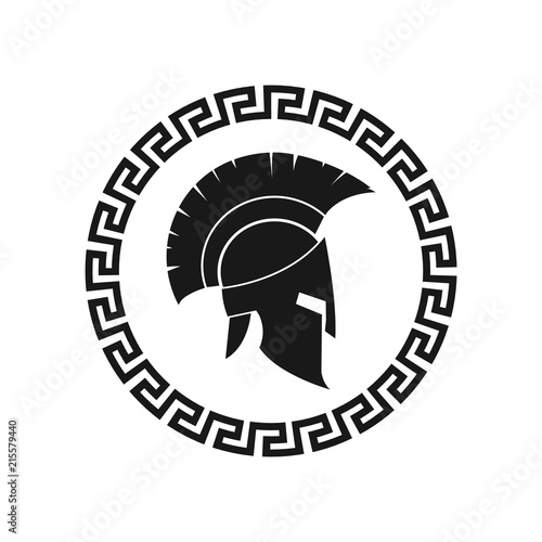 Obraz na plátně Spartan helmet. Vector. Isolated.
