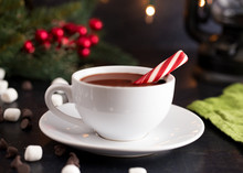 Hot Chocolate On A Table Set F...