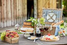 Tasty Summer Picnic Al Fresco On A Garden Table