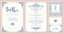 Ornate Wedding Invitation, Tab...